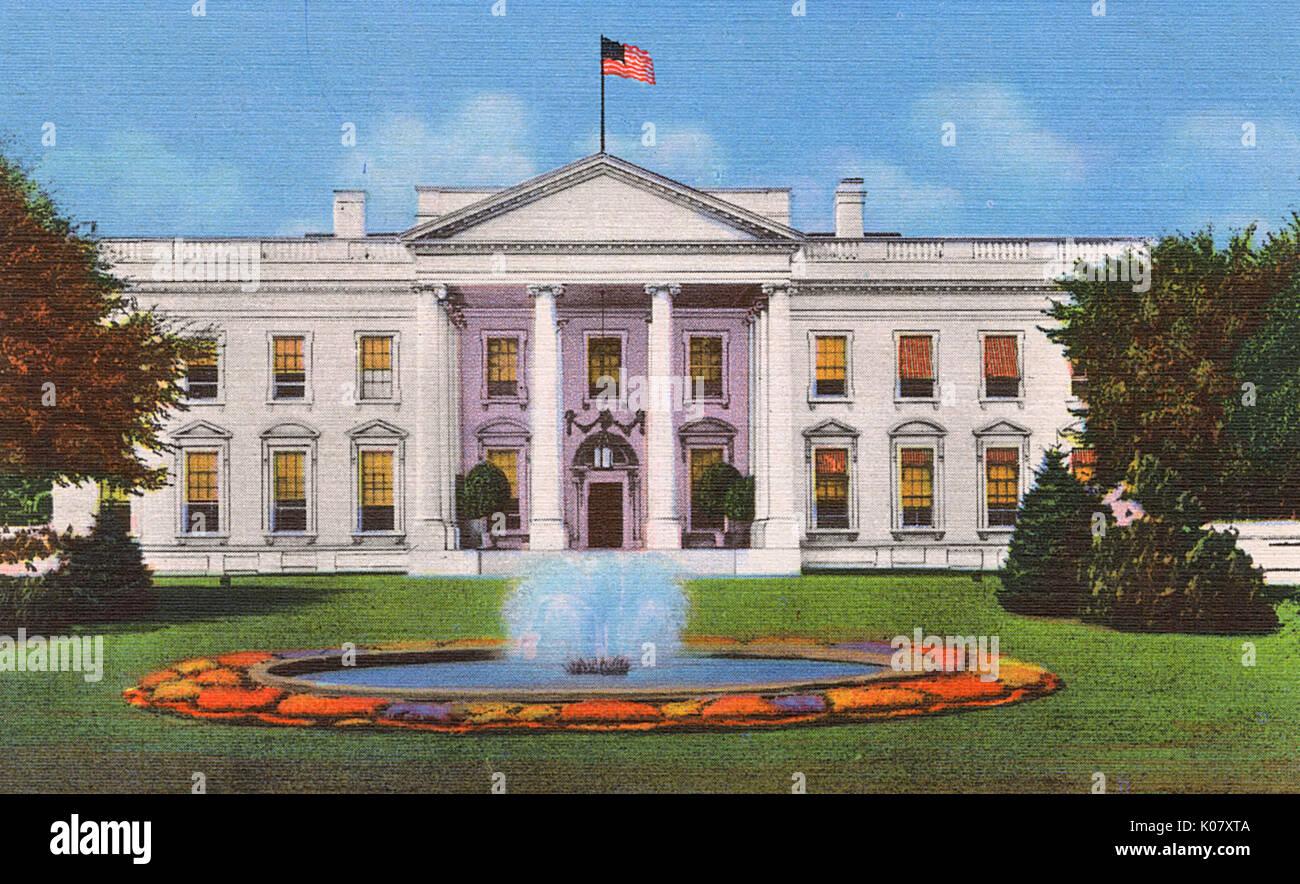 Washington dc usa la maison blanche date 1943
