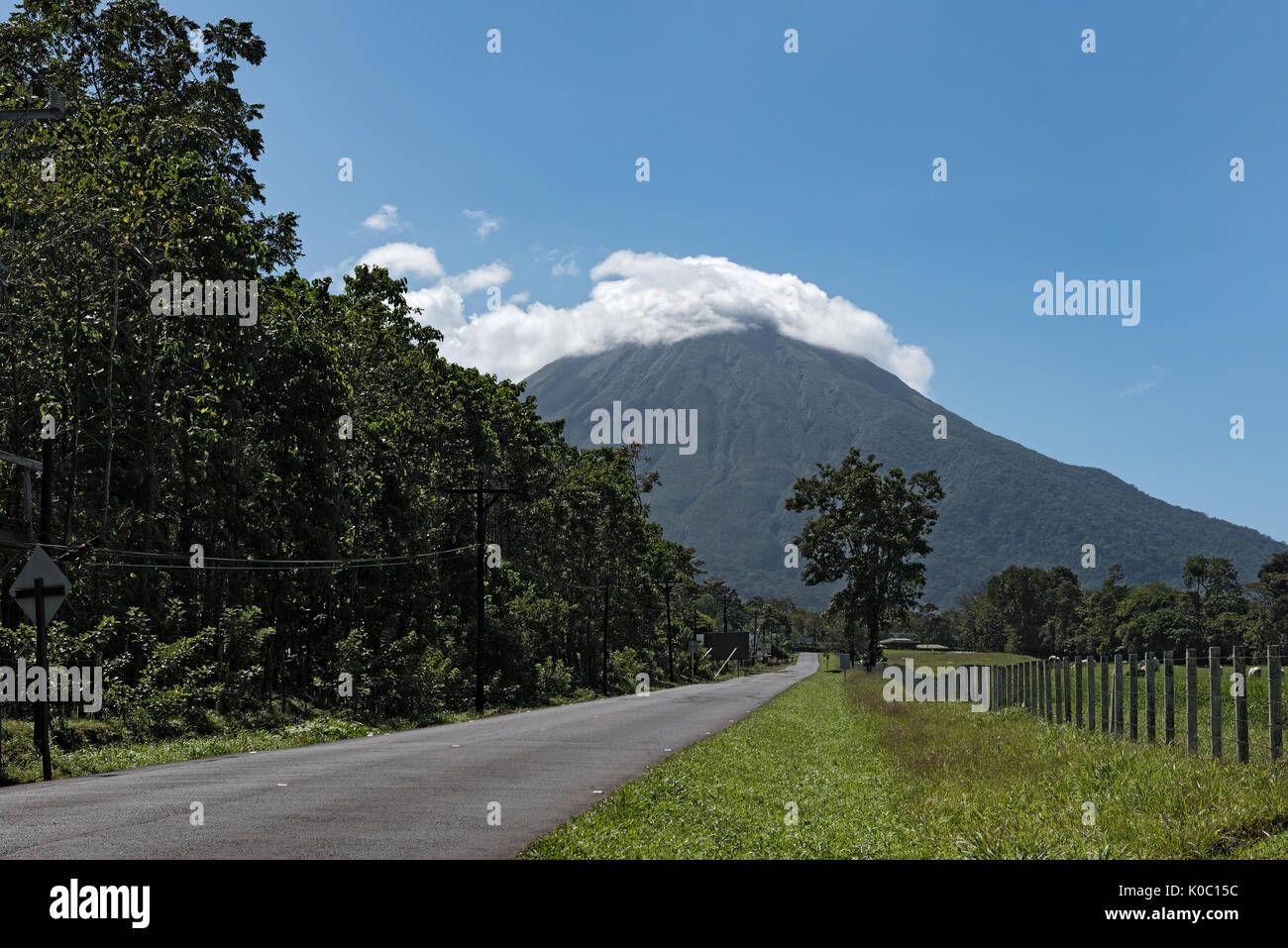 Le volcan Arenal au Costa Rica Photo Stock