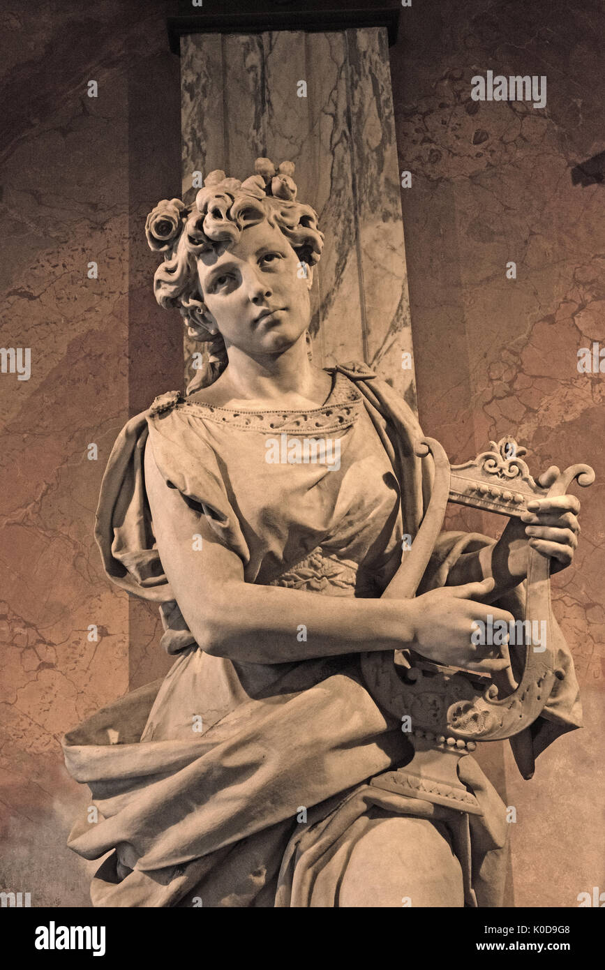 Sculpture au Théâtre National du Costa Rica à San Jose Photo Stock