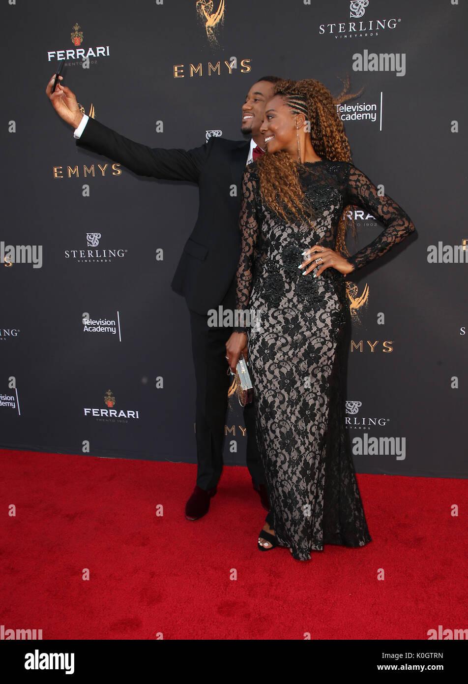 69e Emmy Awards de Los Angeles comprend: Jessie T. Usher, Erica Ash Où: Los Angeles, California, United States Quand: le 23 Juil 2017 Credit: FayesVision/WENN.com Banque D'Images