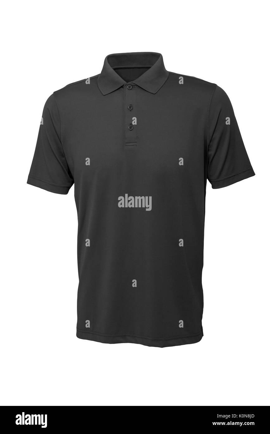 Couleur gris golf tee shirt pour homme ou femme sur fond blanc Banque D'Images