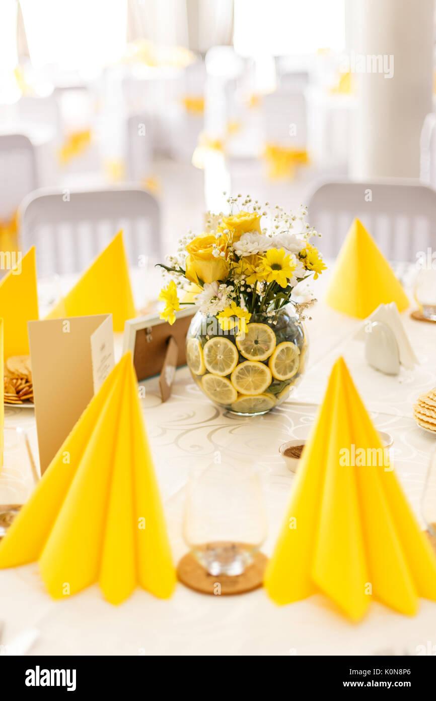 Set de table pour un mariage ou un autre événement dîner Photo Stock