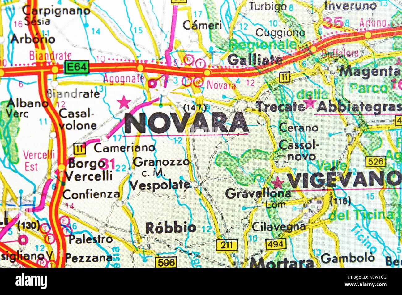 Carte Italie Novara.Novara Map Photos Novara Map Images Alamy