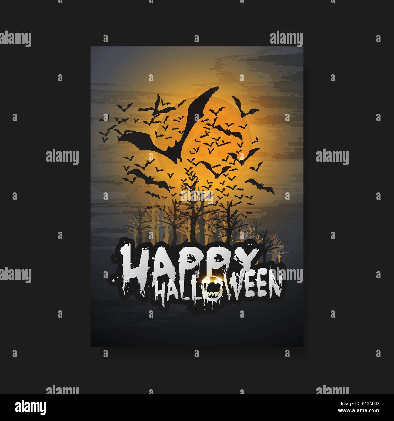 Carte Halloween Dark Abstract Flyer Couverture De Livre Ou
