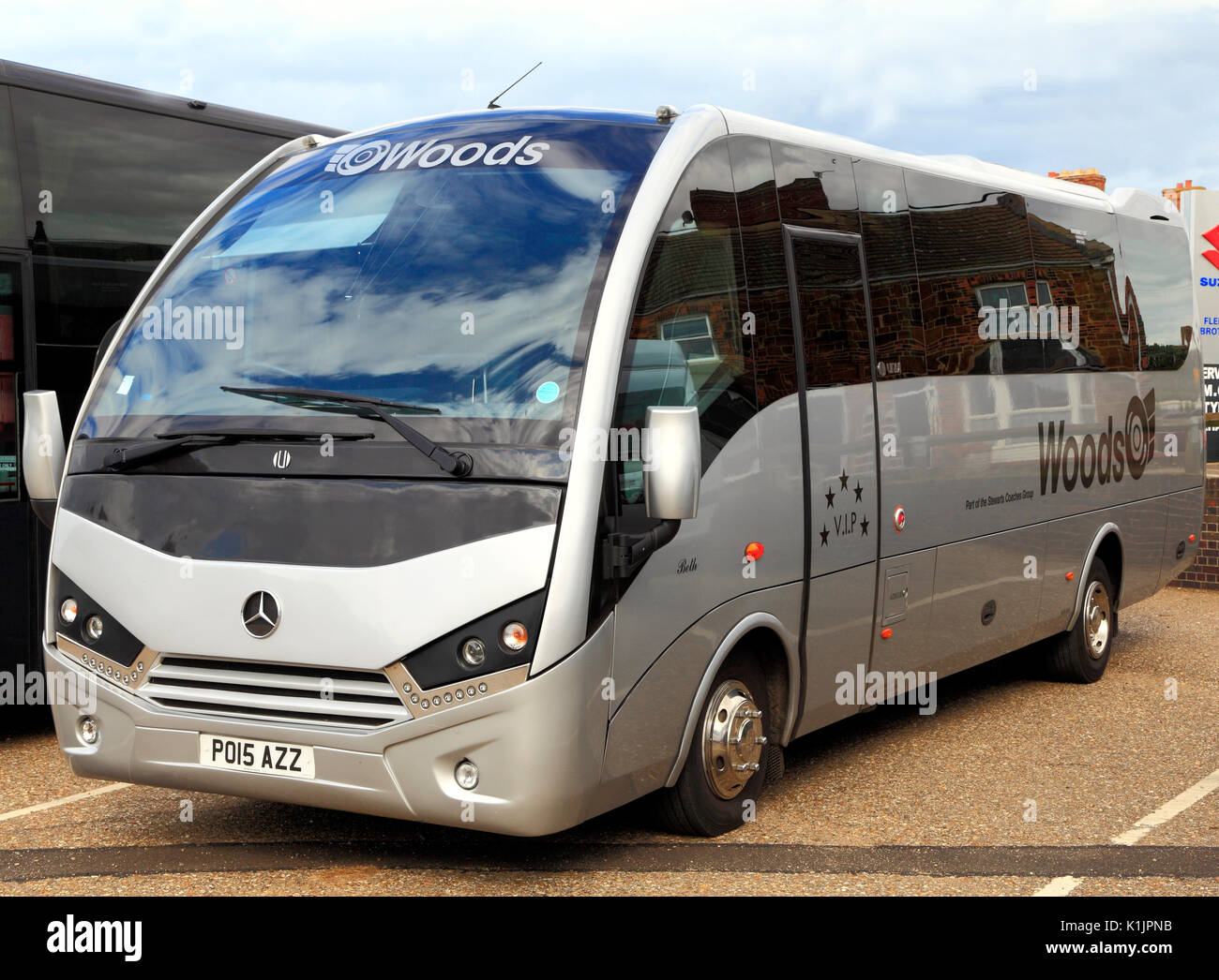 Woods, les entraîneurs, les excursions en mini-bus, voyage, excursion, excursions, voyages, vacances, jours fériés, entreprises, voyages, transports, England, UK Photo Stock