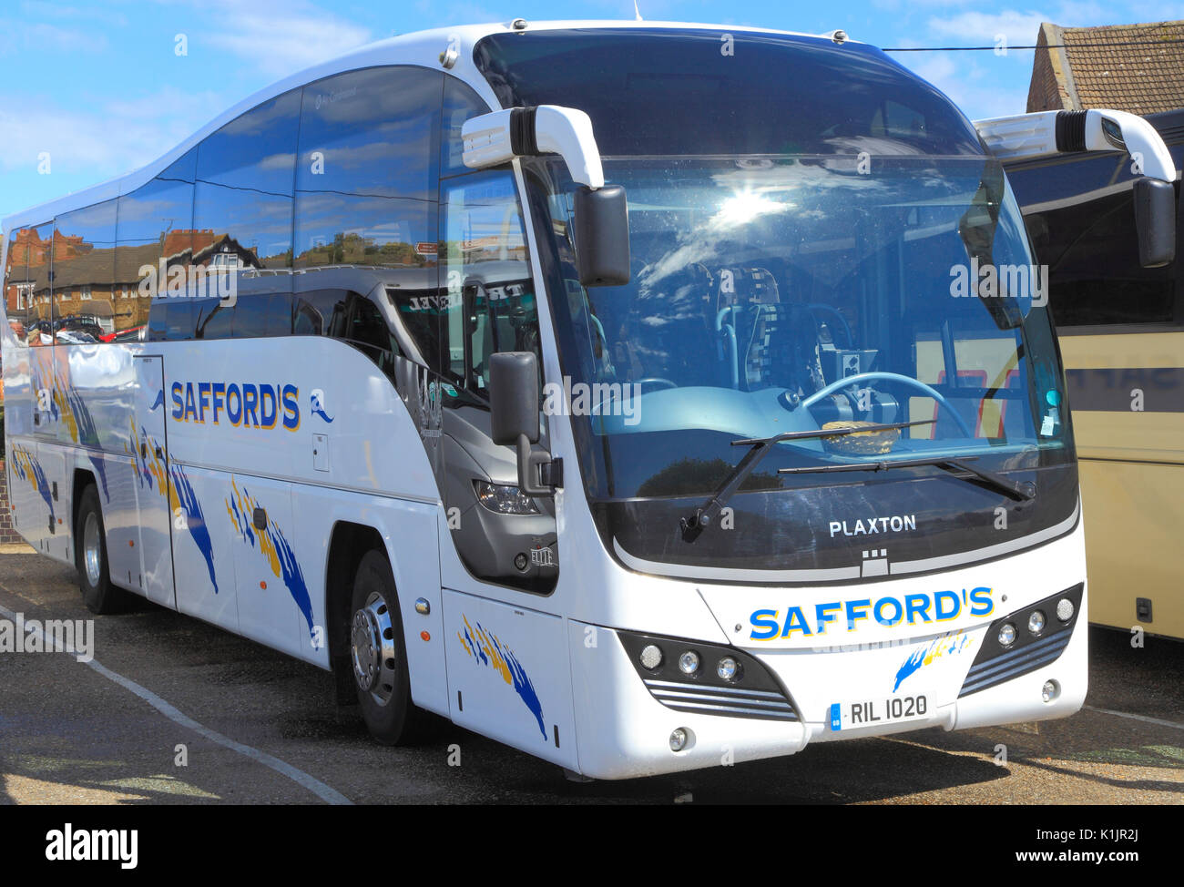 Saffords Coahes, coach, excursions, voyage, entreprise, entreprises, excursion, excursions, transport, England, UK Photo Stock