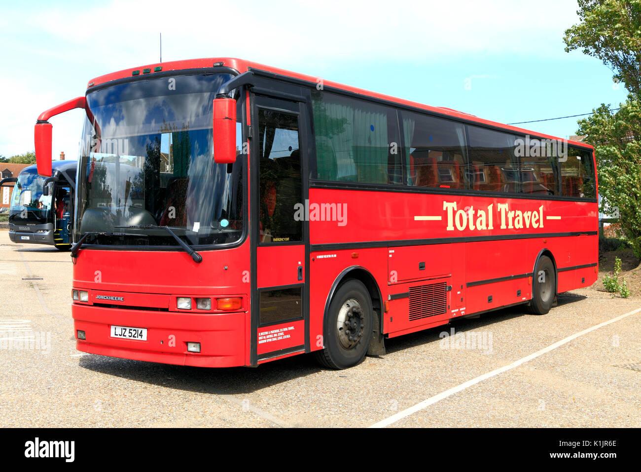 Total des frais de déplacement, l'entraîneur, des entraîneurs, des excursions d'un jour, voyage, excursion, excursions, entreprise, entreprises, England, UK. Photo Stock