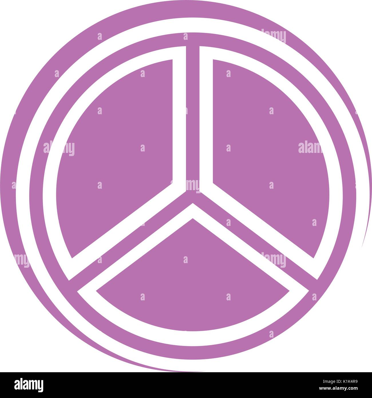 Symbole de paix icône isolé Photo Stock