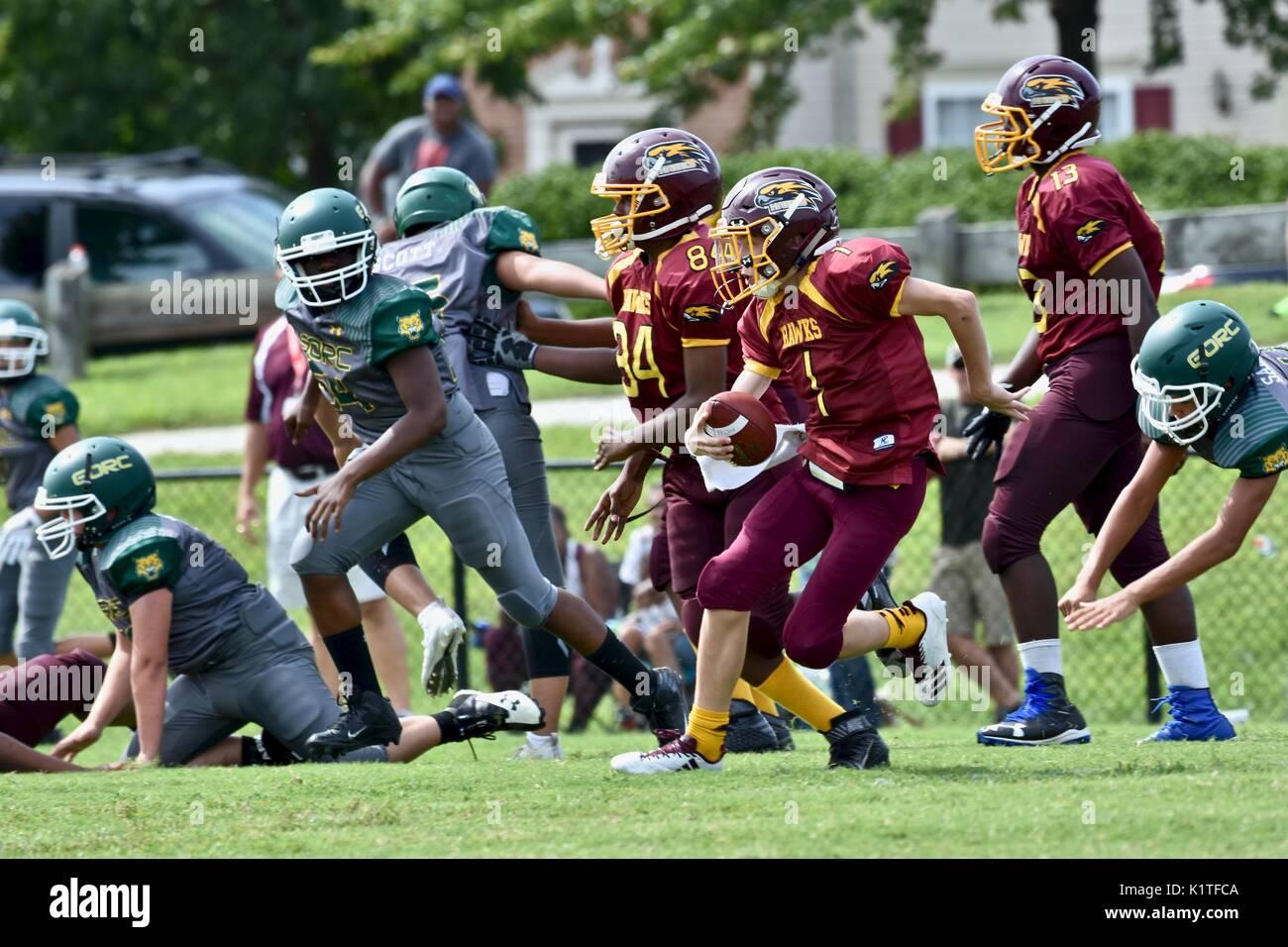 Football américain des jeunes Photo Stock