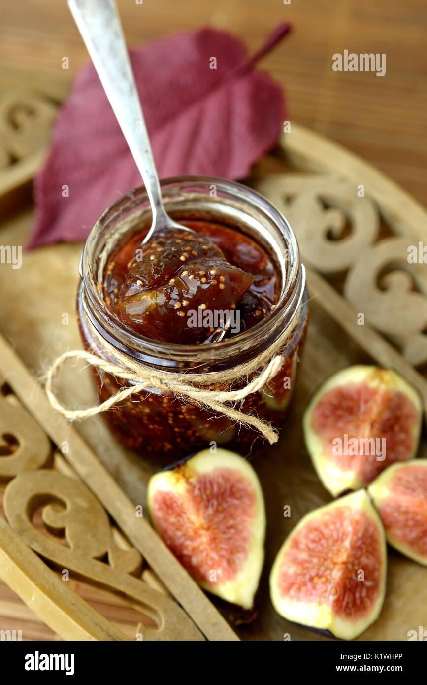 Confiture de figue Photo Stock
