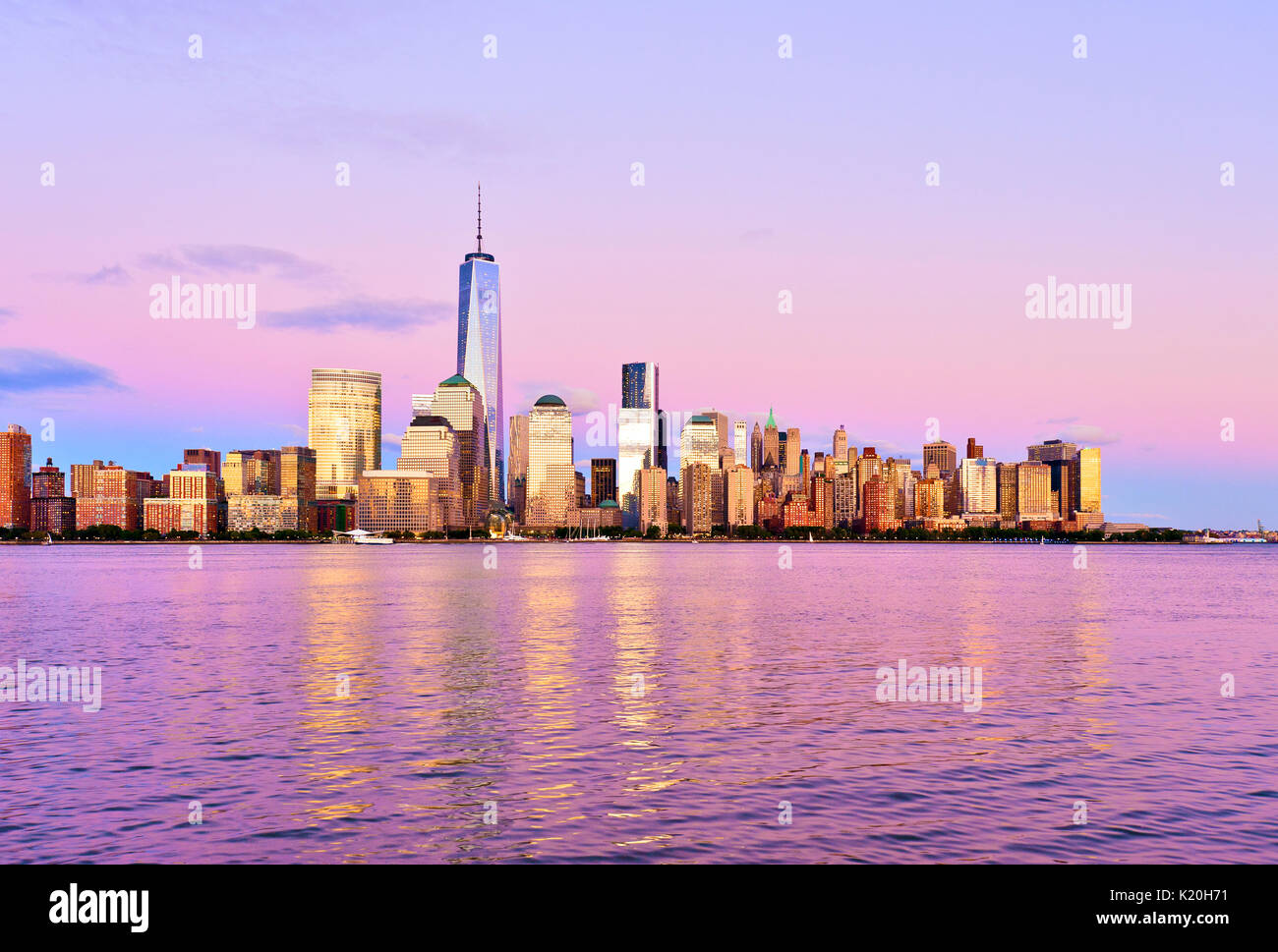 New York Skyline Freedom Tower New York City One World Trade Center Banque D'Images