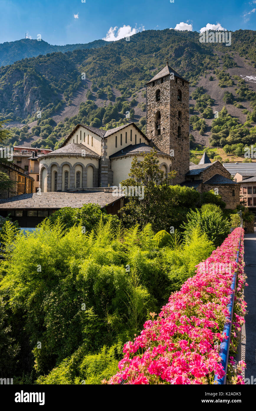 Esglesia église de Sant Esteve, Andorre-la-Vieille, Andorre Photo Stock