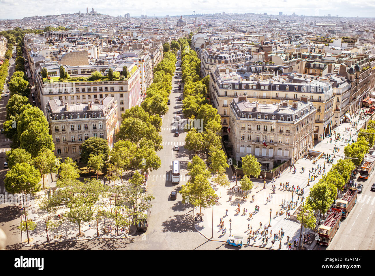 Cityscape sur Paris Photo Stock