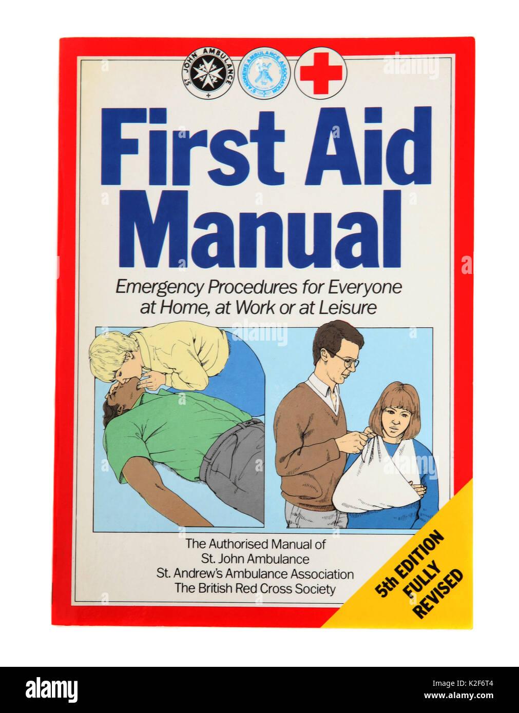 Le livre - Manuel de premiers soins Photo Stock