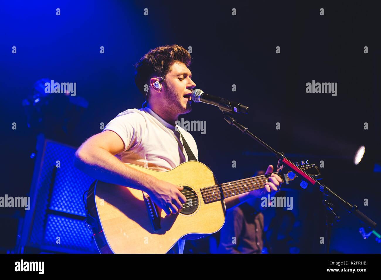 Londres, Royaume-Uni. 31 août 2017 - Ancien membre de One Direction, one direction, joue sa première exposition solo au Royaume-Uni à l'O2 Shepherds Bush Empire à Londres, 2017 Credit: Myles Wright/ZUMA/Alamy Fil Live News Banque D'Images