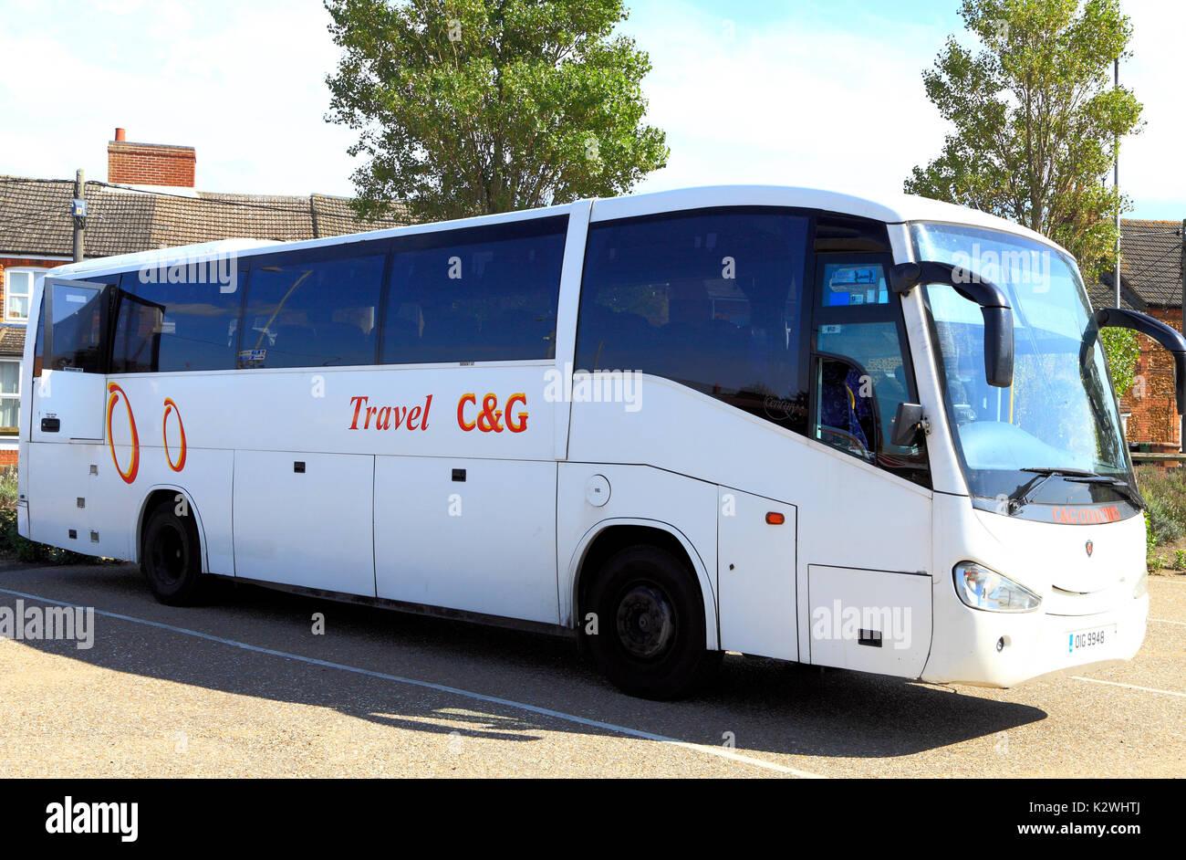 C&G, C & G, voyage en bus, autocars, excursions, voyage, excursion, excursions, vacances, vacances, société, entreprises, England, UK Photo Stock