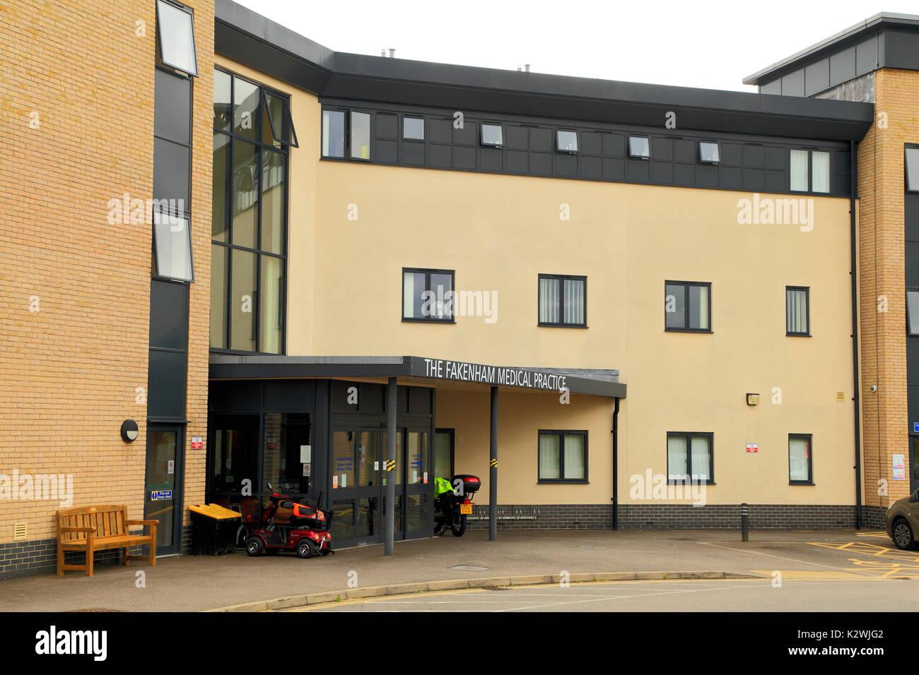 Fakenham pratique médicale, médecin, Médecins, Chirurgie Fakenham, Norfolk, England, UK Photo Stock