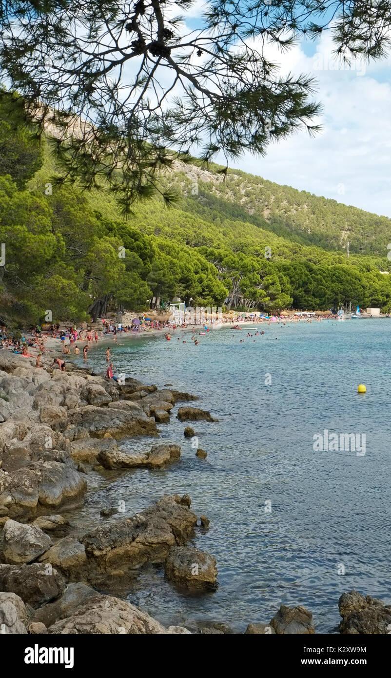Plage Cap Formentor Majorque Majorque Îles Baléares Espagne Espana UE Union Européenne Europe Photo Stock