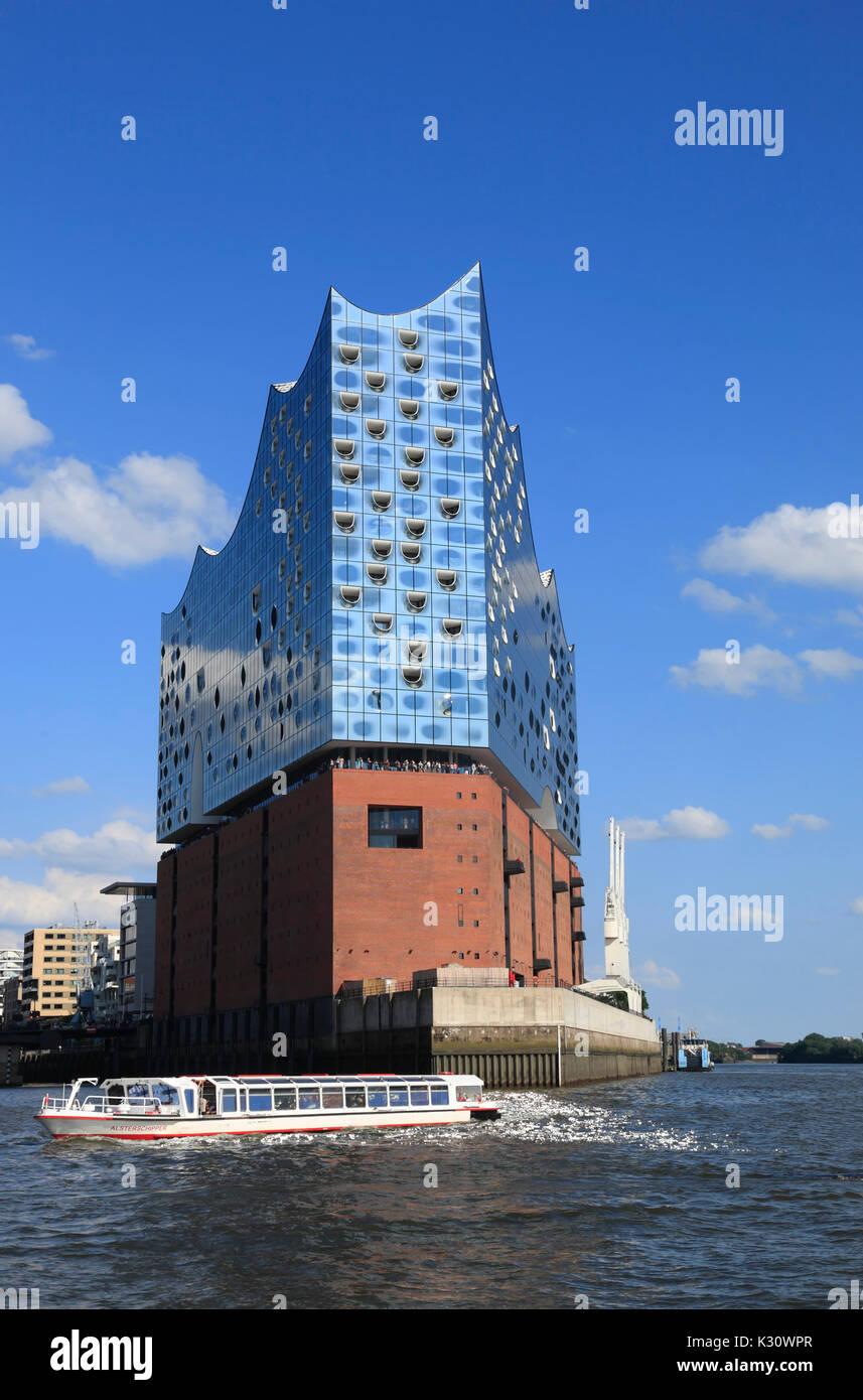 Elbphilharmonie, Elbe philharmonic concert hall, le port de Hambourg, Allemagne, Europe Banque D'Images