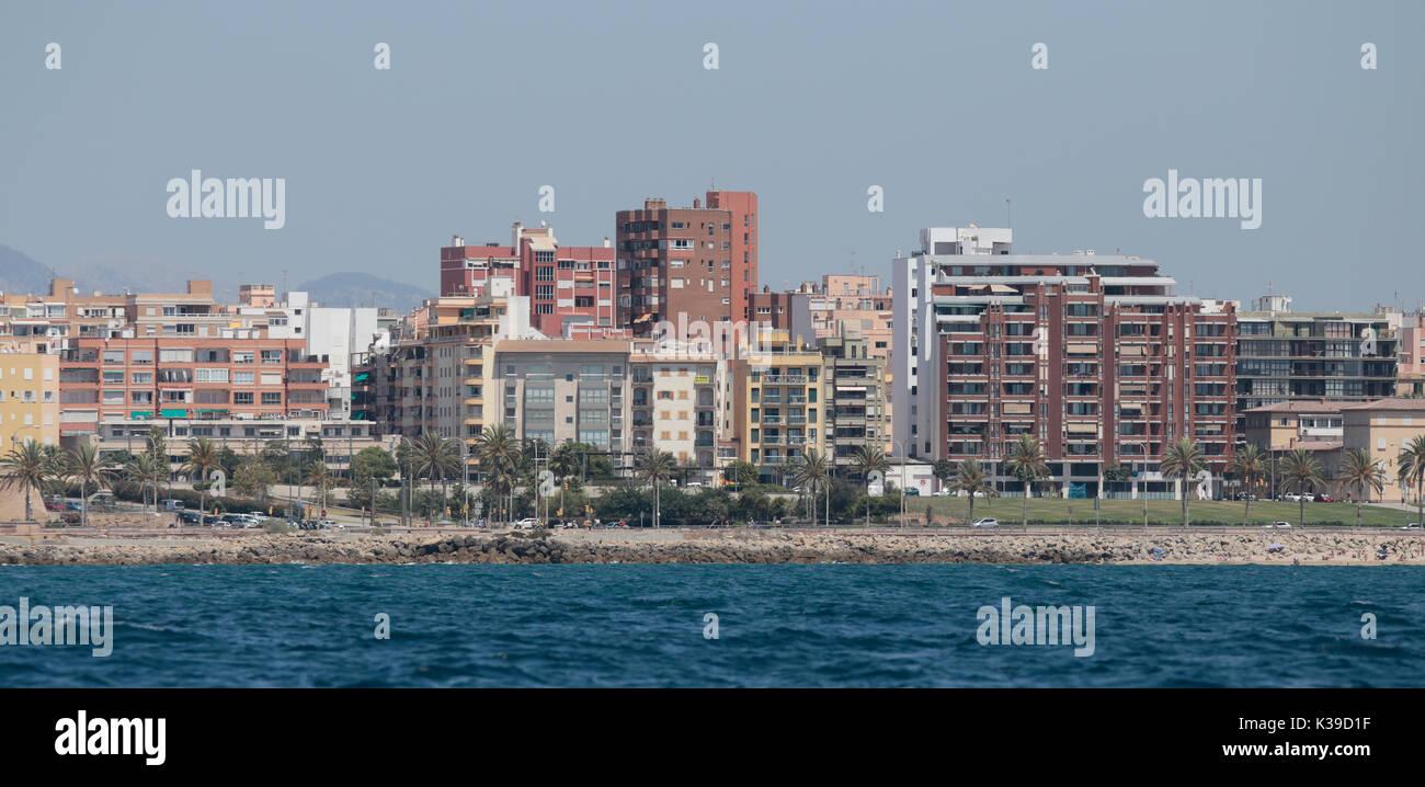 Vue de la mer Banque D'Images