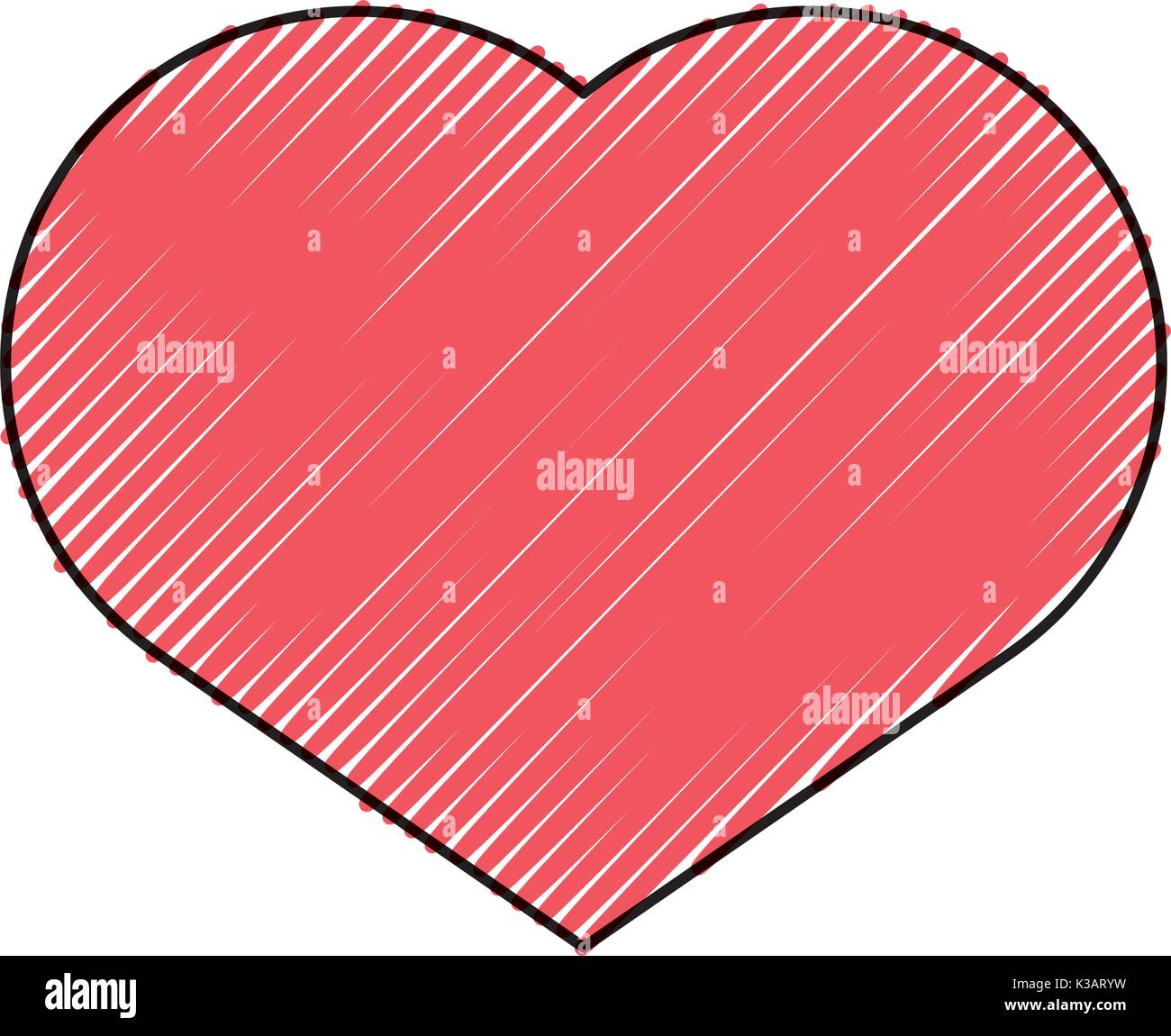 L'icône en forme de coeur Photo Stock