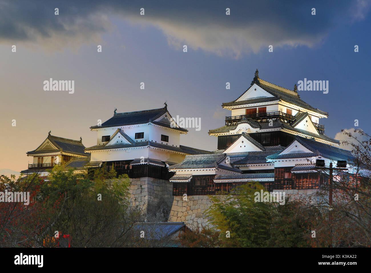 Le Japon, l'île de Shikoku, Matsuyama City, Matsuyama Castle Photo Stock