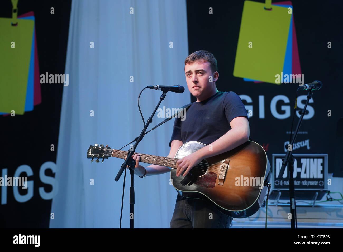 Londres, Royaume-Uni. Sep, 2017 3. Jamie finaliste Wooding effectue au maire de Londres Concerts à Westfield London. Credit: Voir Li/Alamy Live News Banque D'Images