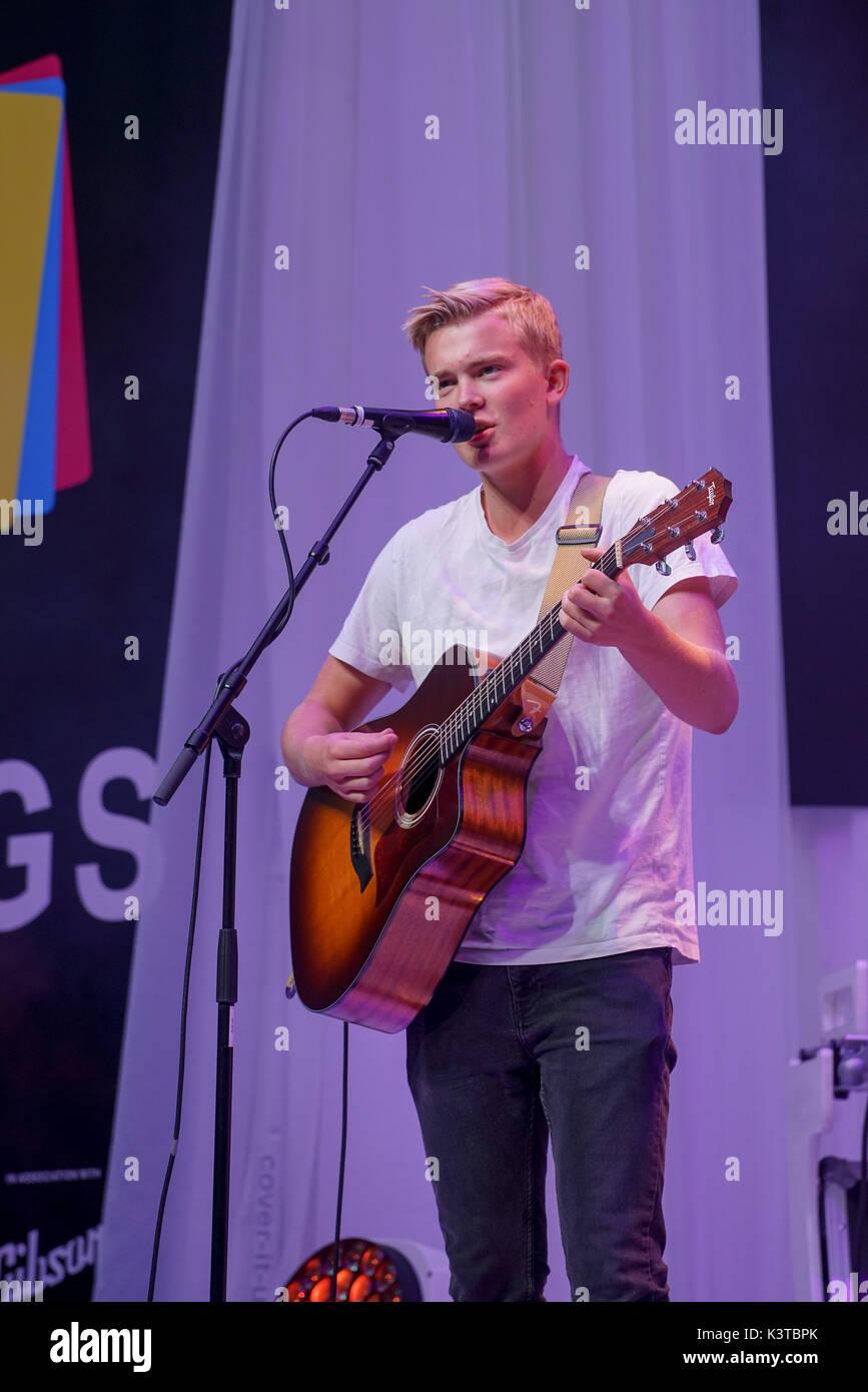 Londres, Royaume-Uni. Sep, 2017 3. Rade finaliste de la bande effectue deux à la maire de Londres Concerts à Westfield London. Credit: Voir Li/Alamy Live News Banque D'Images