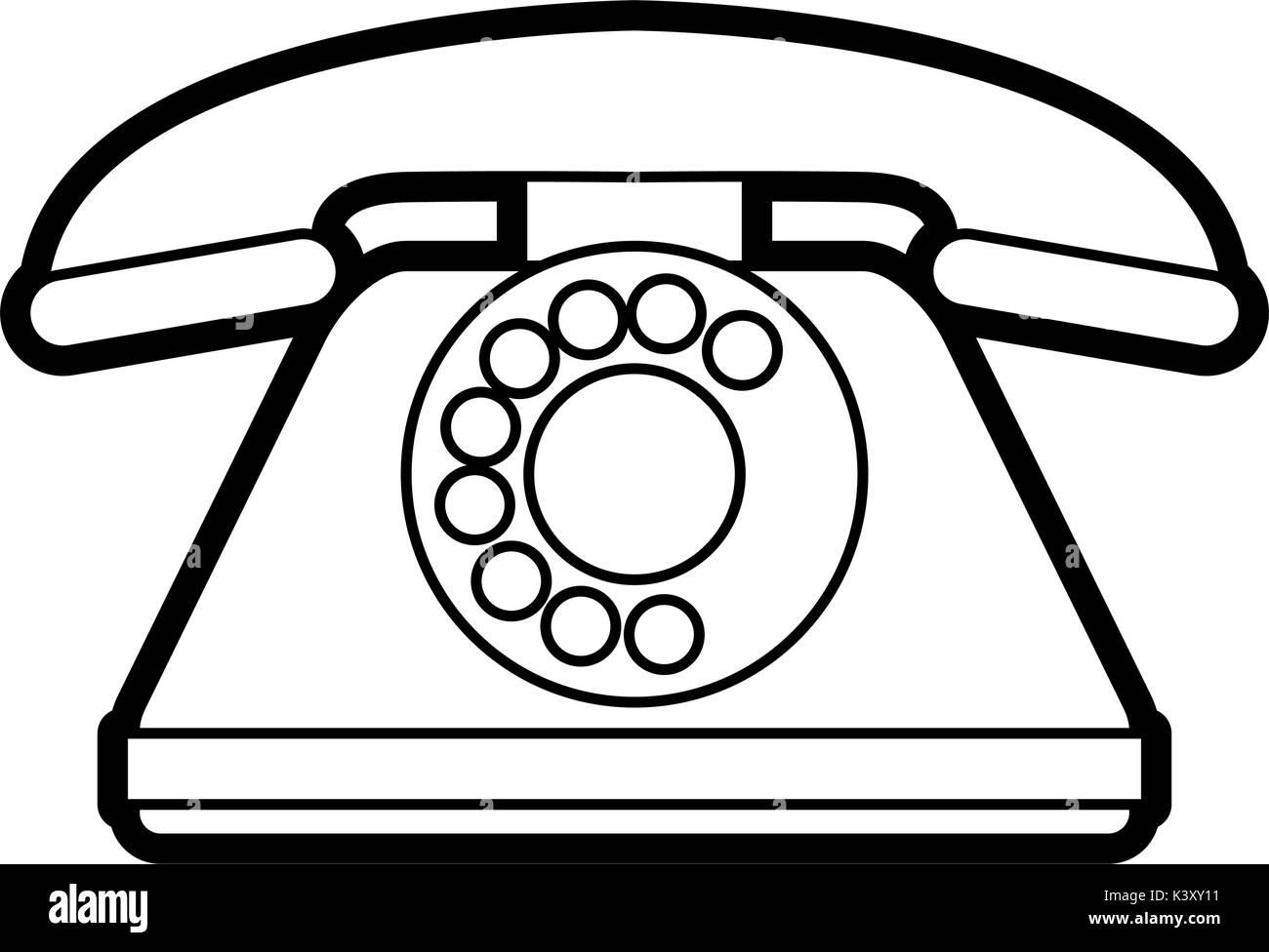 Design retro phone isolés Photo Stock