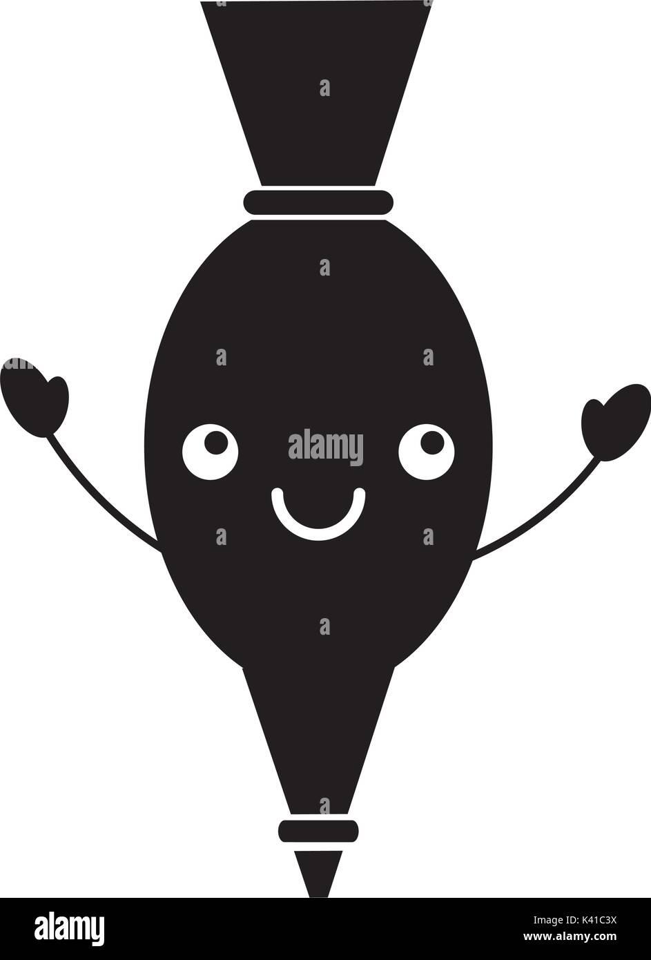 Sac De Glace Kawaii Cuisine Dessin Animé Libre Vecteurs Et
