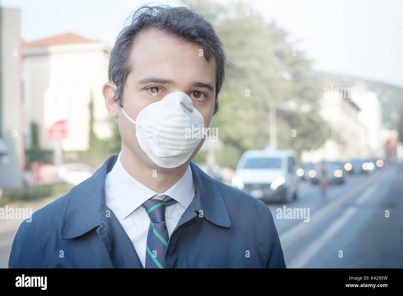 masque contre la pollution