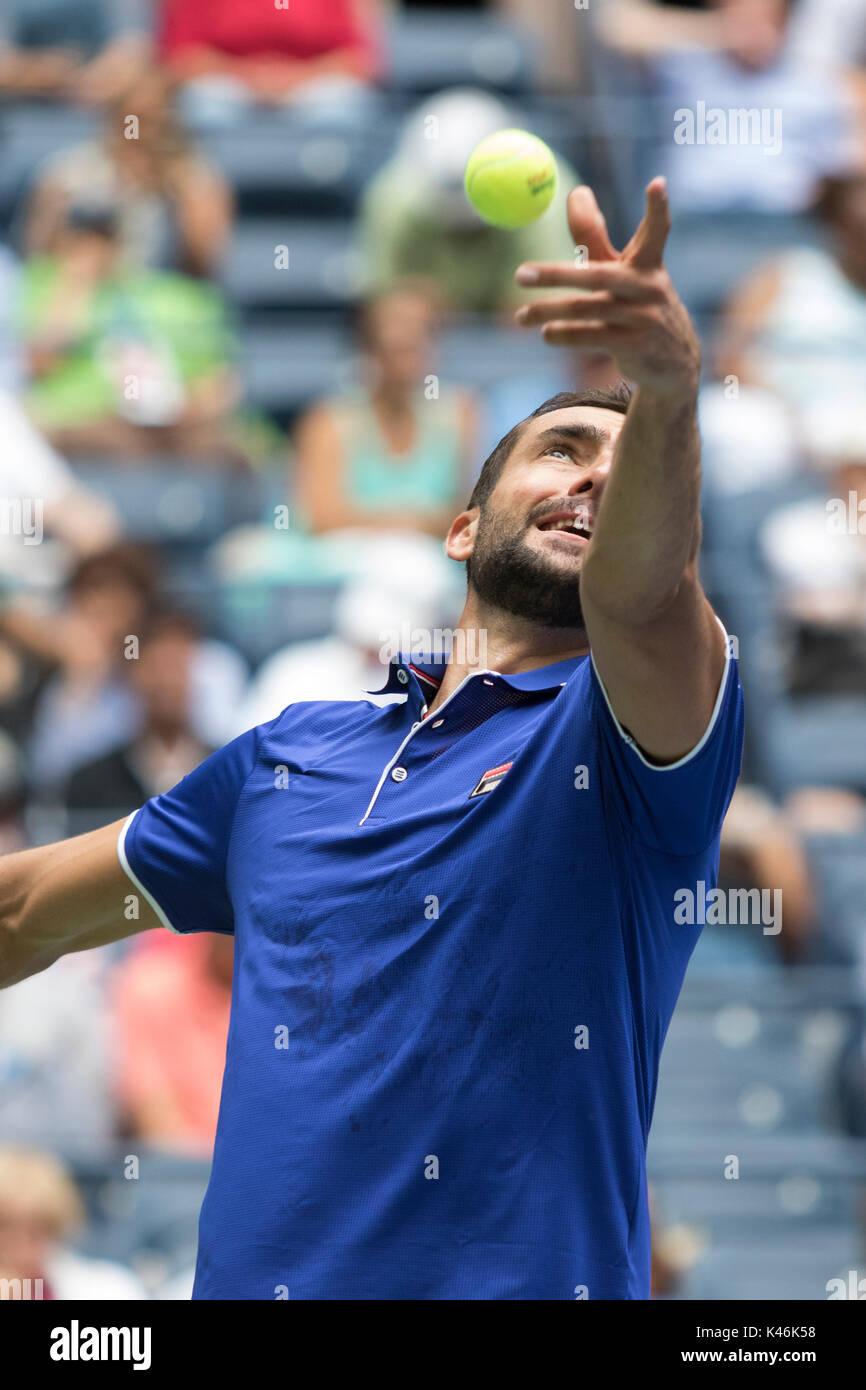 Marin Cilic (CRO) de la compétition à l'US Open Tennis Championships 2017 Photo Stock