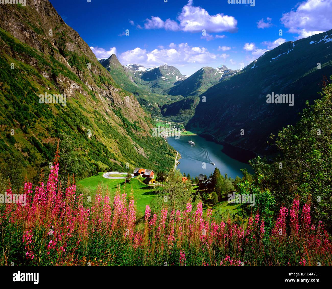 Non - MORE og Romsdal: Geirangerfjord Photo Stock