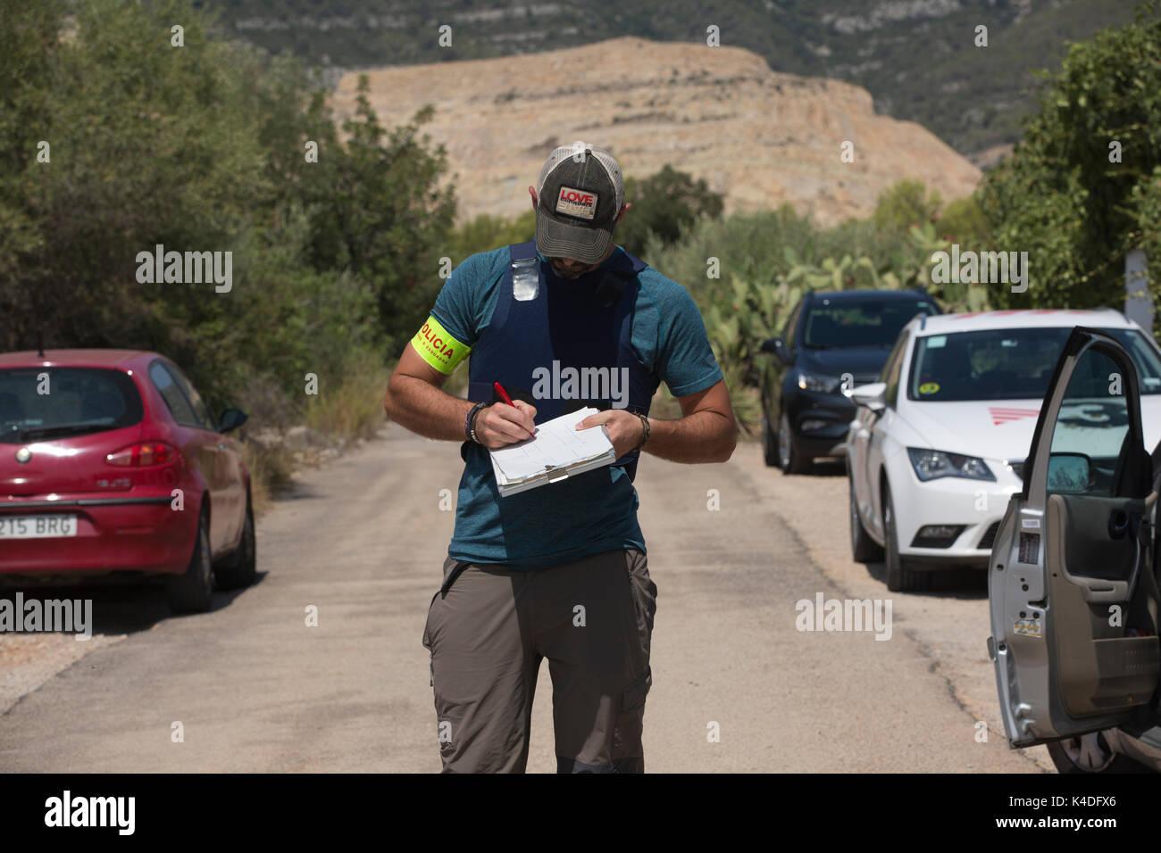 Alcanar Platja, à 120 km au sud de Barcelone, où une cellule terroriste responsable d'attaques en Catalogne recueillis des contenants de gaz prévues pour une attaque. Banque D'Images