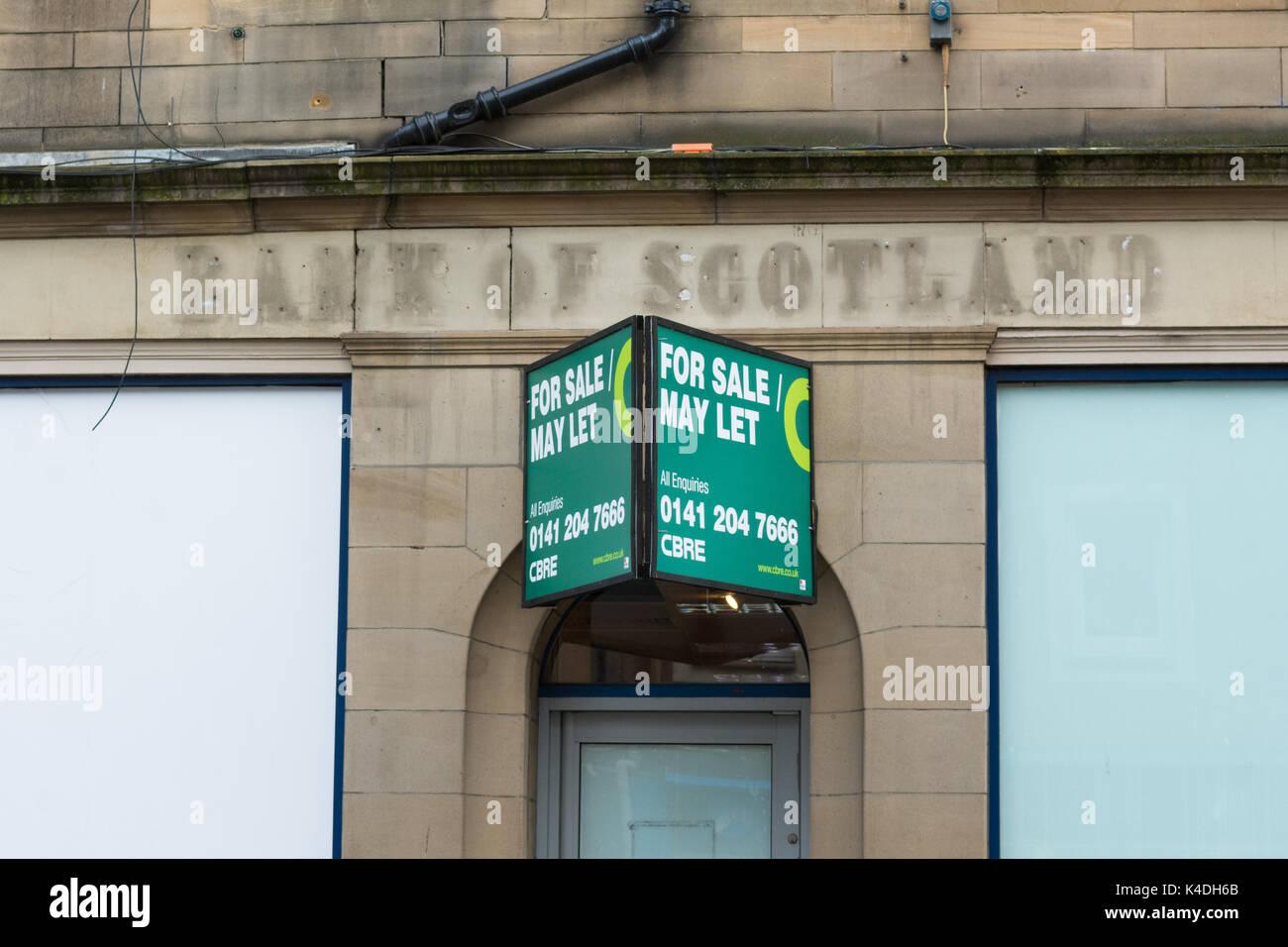 Direction générale de la Banque d'Écosse, fermé, Perth, Ecosse, Royaume-Uni Photo Stock
