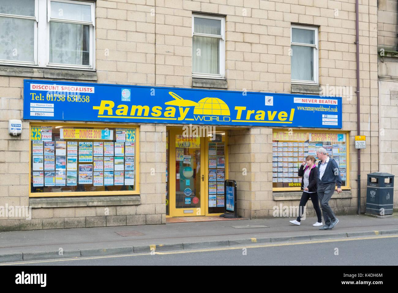 Agent de voyage indépendant de l'agence high street, Perth, Ecosse, Royaume-Uni Photo Stock