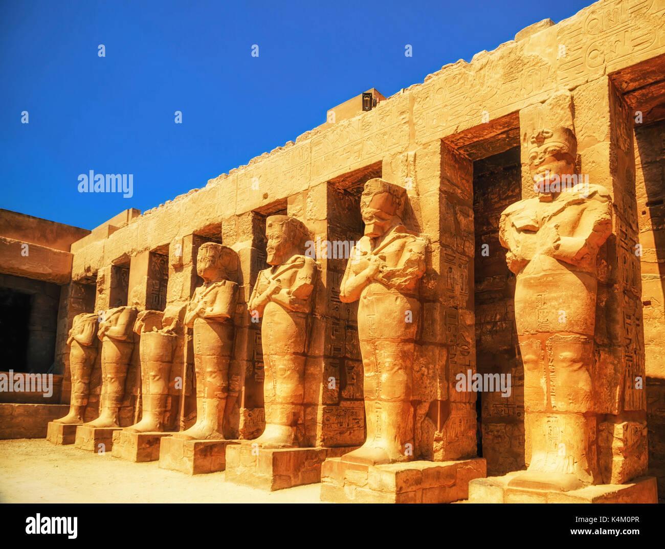 Temple de Karnak, Hall de cariatides. Louxor, Egypte Photo Stock