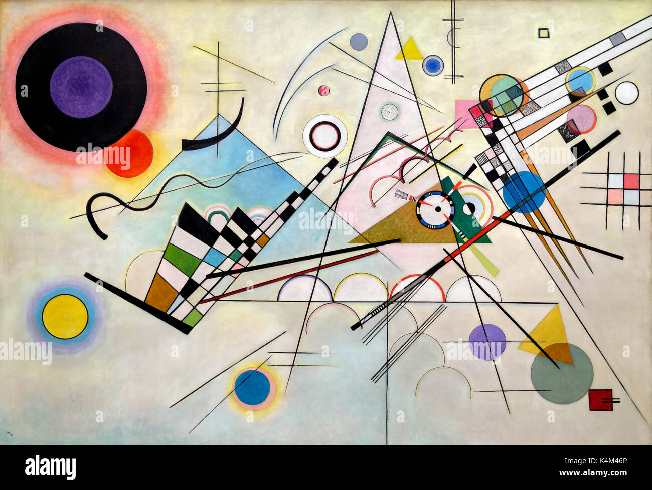 Composition 8, par Vasily Kandinsky, 1923, Solomon R. Guggenheim Museum, Manhattan, New York City, USA, Amérique du Nord Photo Stock