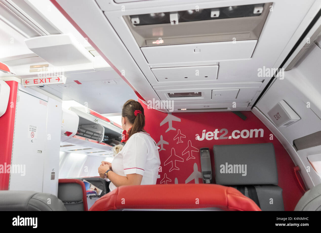 Vol Jet2.com attendent. uk Photo Stock