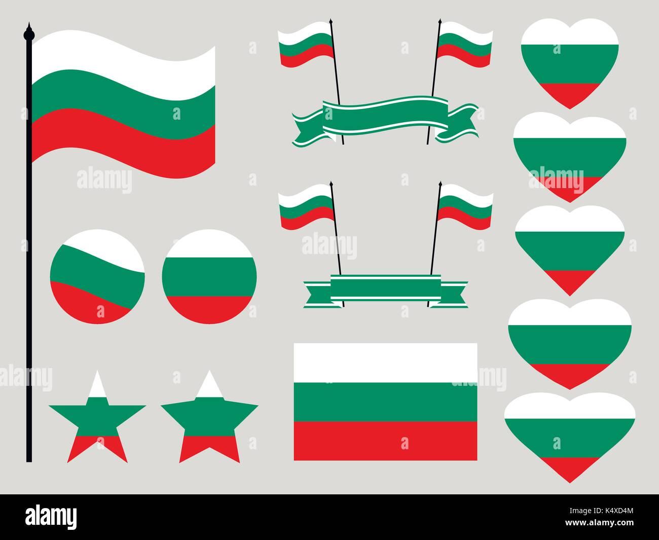 La Bulgarie est cochée.) collection de symboles coeur et cercle. vector  illustration Photo e88eedb3ddc