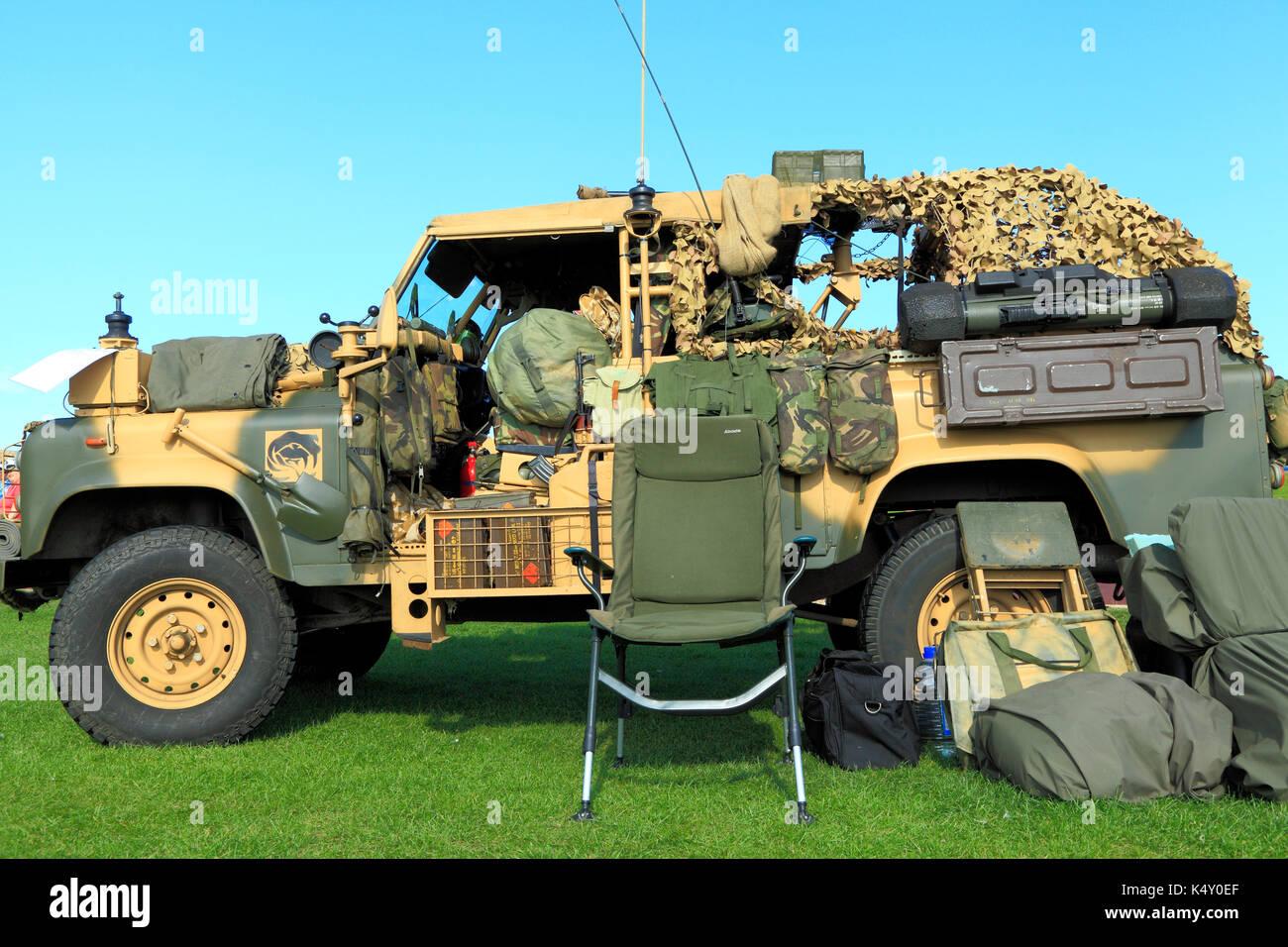 L'armée britannique, vintage, véhicule de transport de troupes, militaires, les véhicules, England, UK Photo Stock