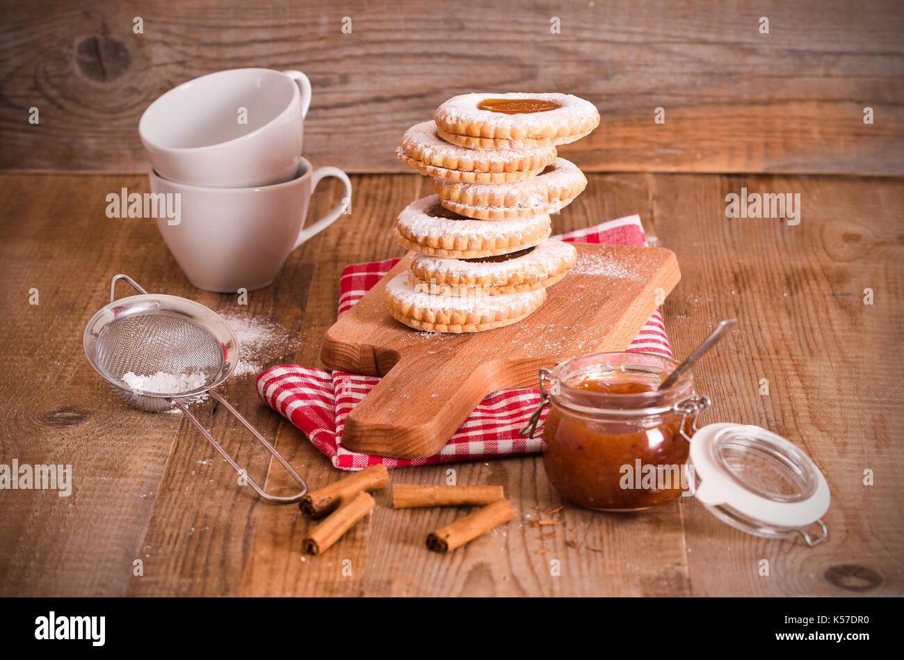 Le petit-déjeuner les cookies. Photo Stock