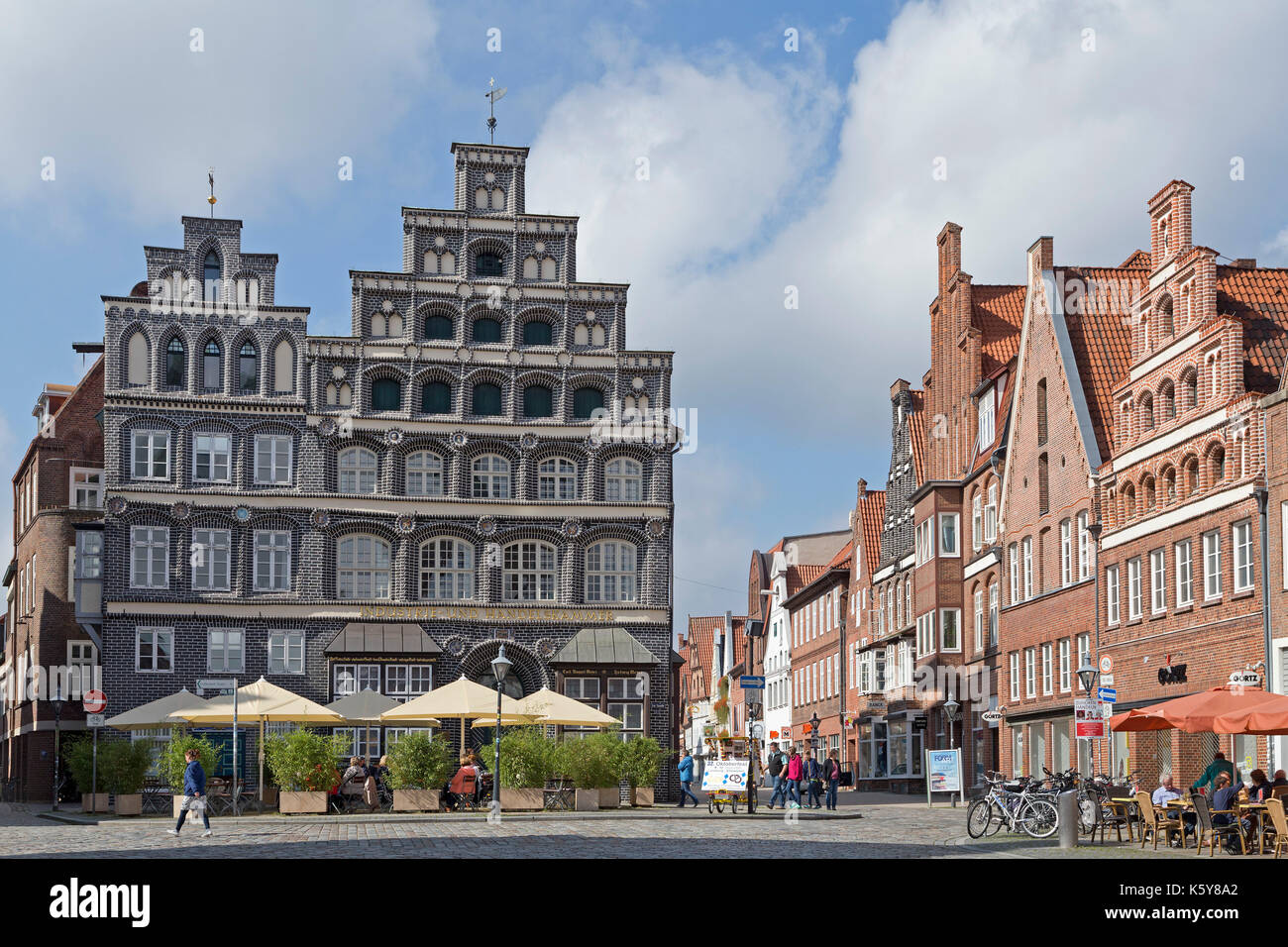 Chambre de commerce et d'industrie, am sande, Lunebourg, Basse-Saxe, Allemagne Photo Stock