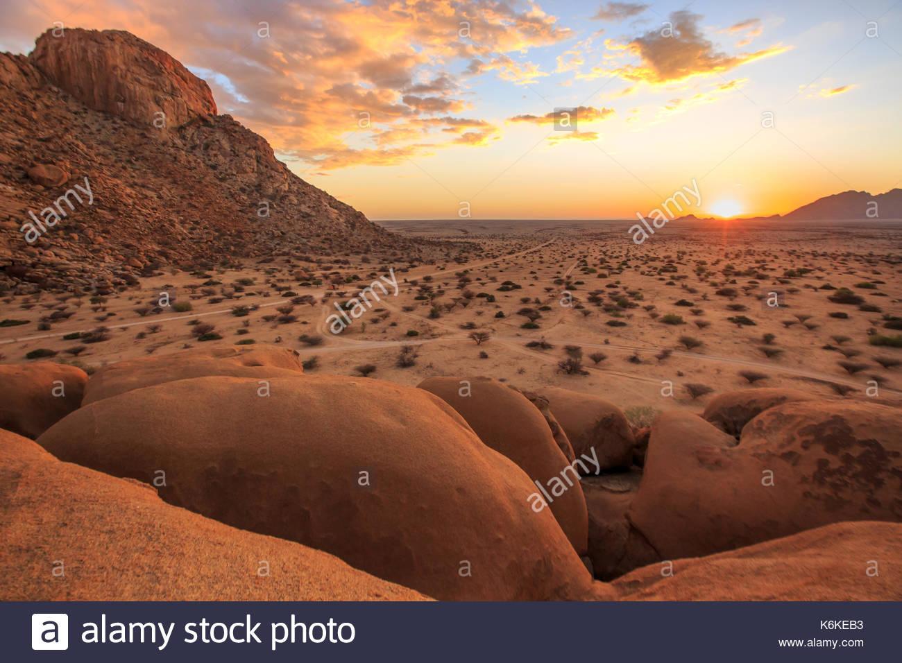 Spitzkoppe, Damaraland, Namibie Photo Stock