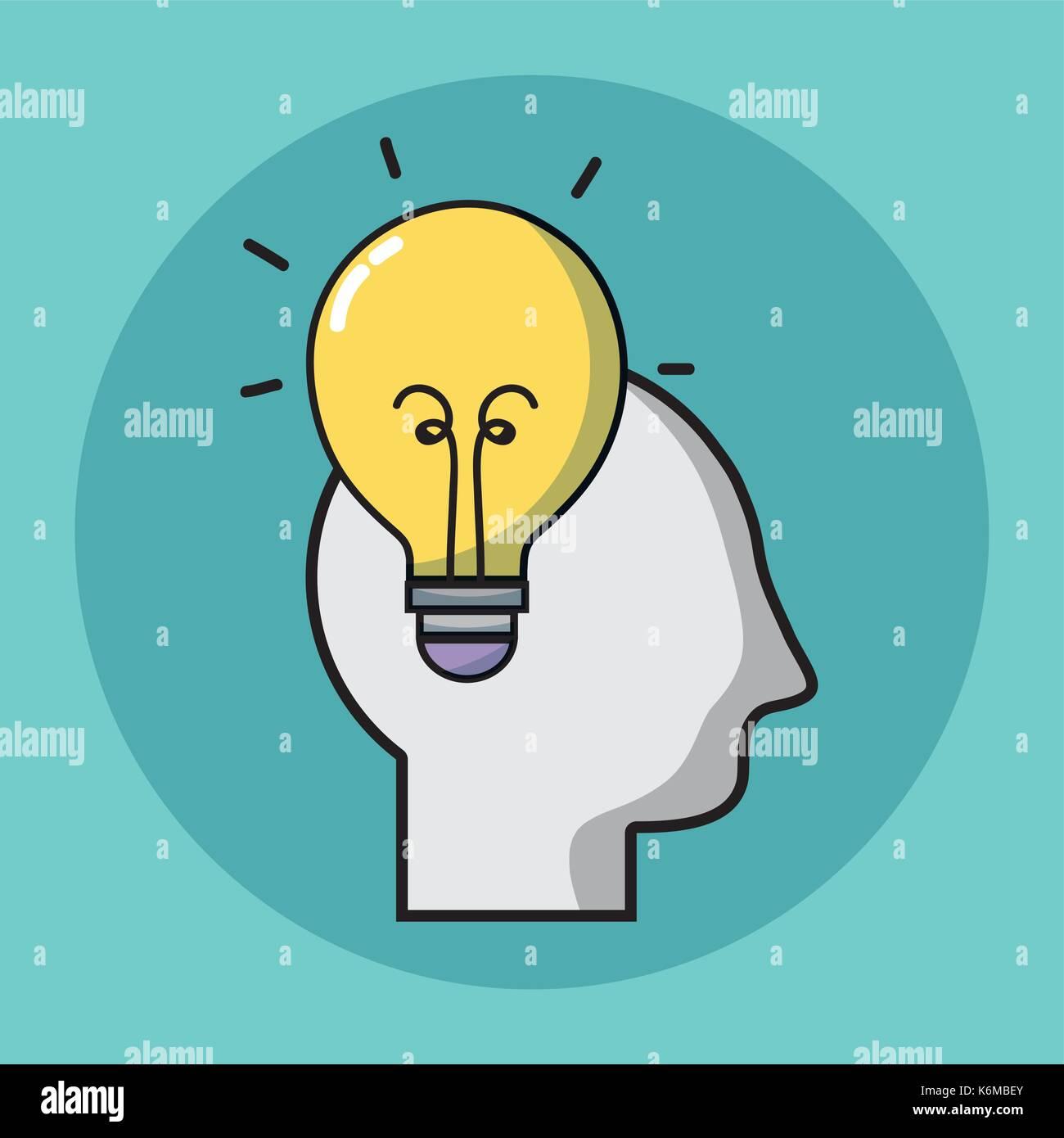 L'enseignement des connaissances avec l'outil créatif design Photo Stock
