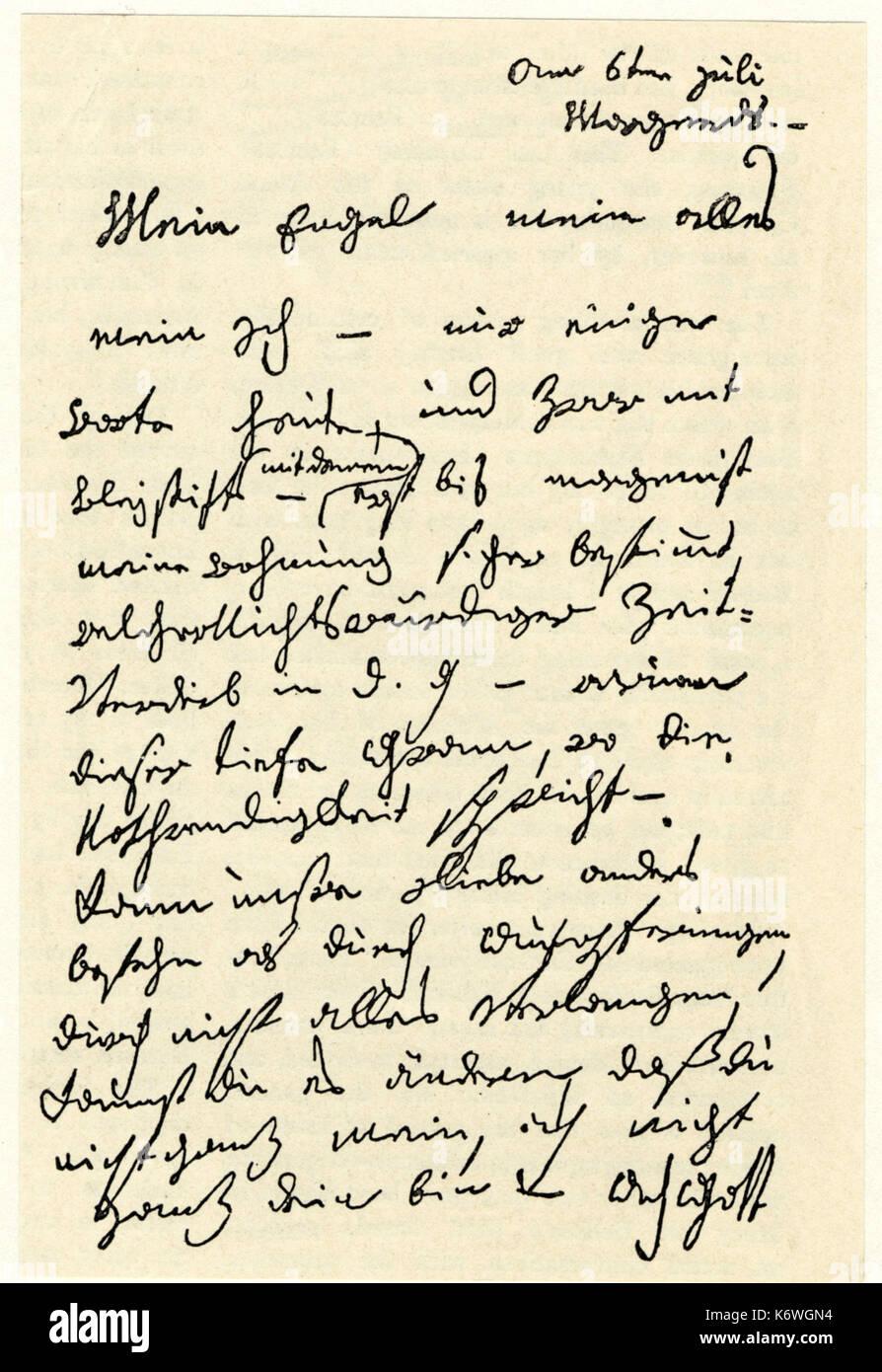 Ludwig Van Beethoven Première Lettre De Son Bien Aimé