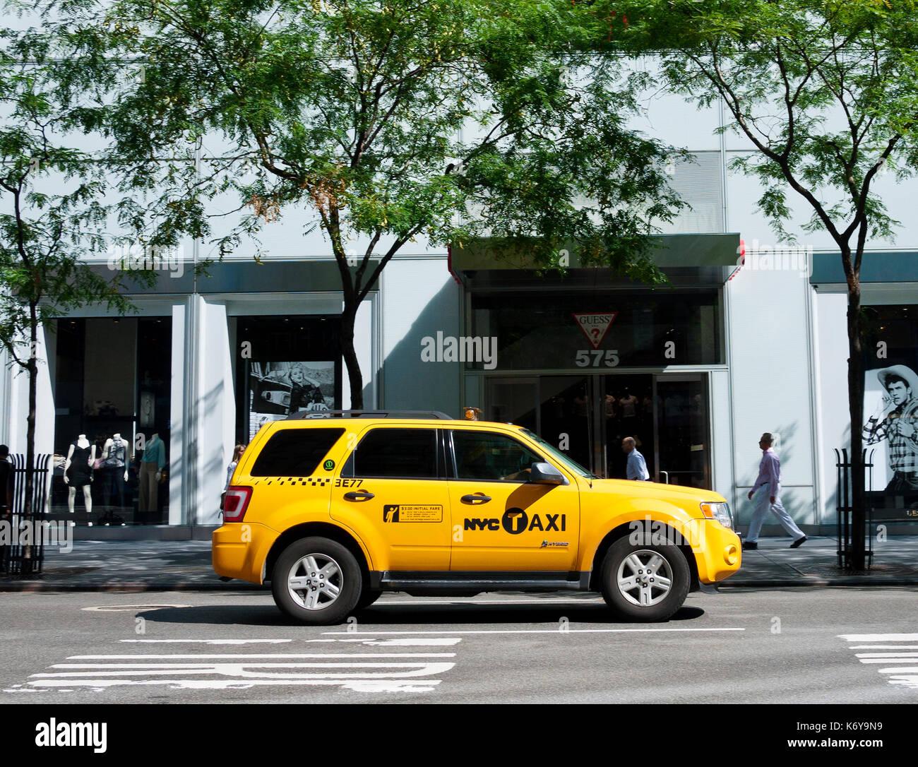 Yellow Taxi Cab Photo Stock