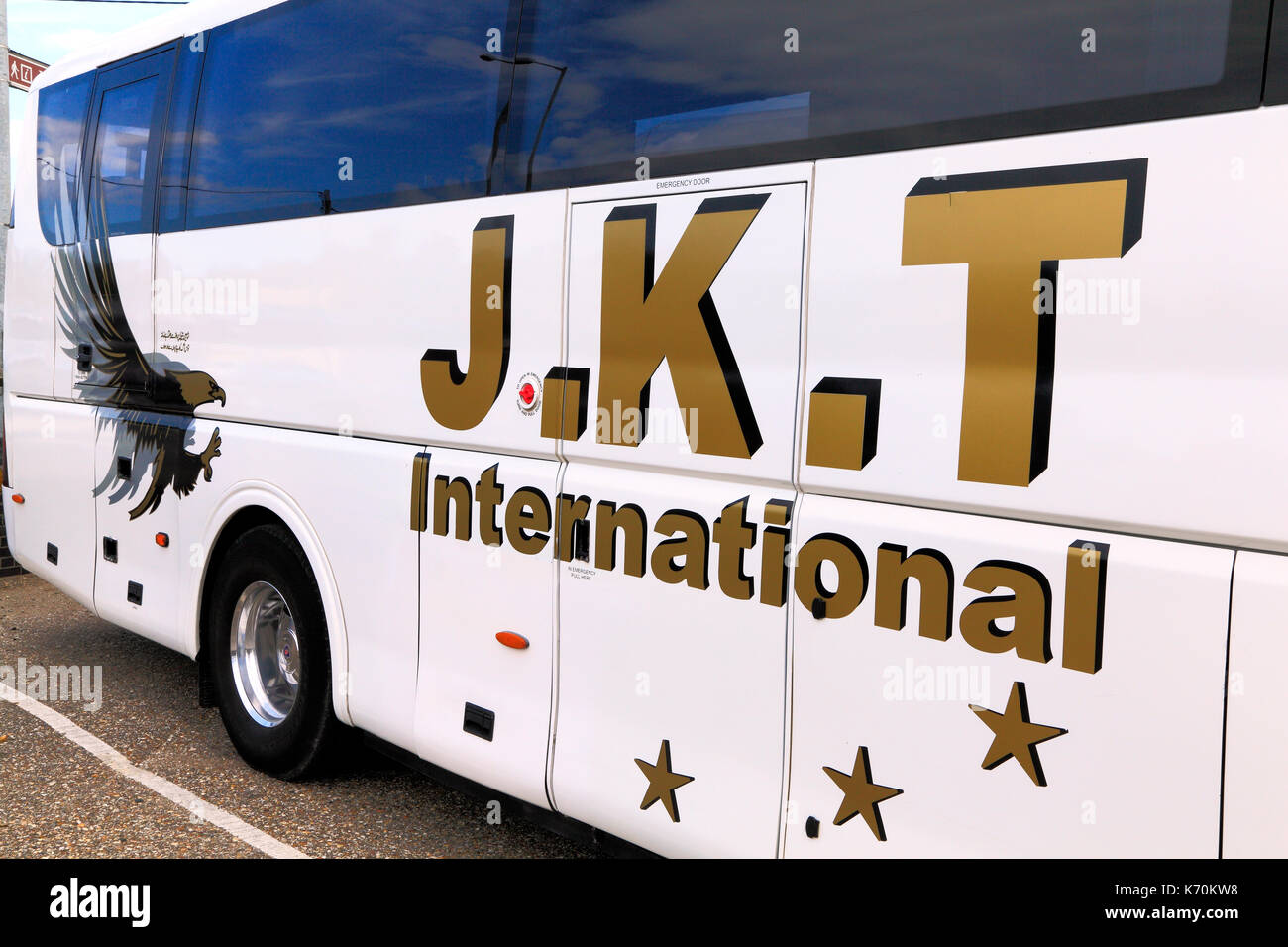 J. K. T., International Travel, entraîneurs, coach, excursions, voyage, excursion, excursions, vacances, vacances, voyage d'entreprise, entreprises, transports, Engla Photo Stock