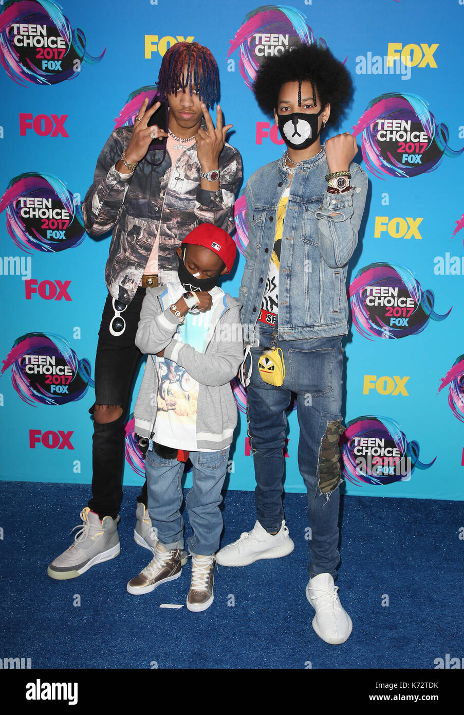 Teen Choice Awards 2017 comprend : ayo & teo où : Los Angeles, California, UNITED STATES Quand : 14 août 2017 Credit : fayesvision/wenn.com Banque D'Images