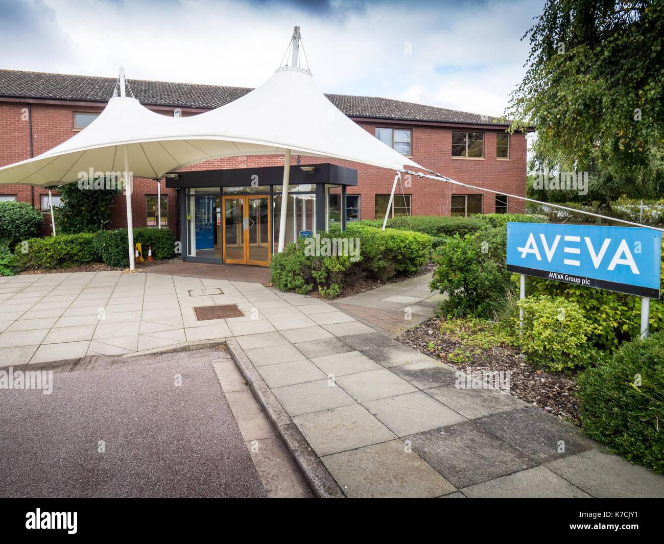Aveva des bureaux à Cambridge, UK - Aveva est un génie, conception et gestion de l'information aux fournisseurs de logiciels pour le processus, usine et Marine Industries Photo Stock